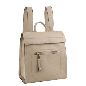 Handbag Republic ALM-0032 modern chic zip backpack taupe
