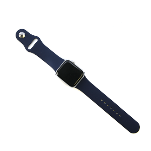 Watch Band 010e 08 silicone rubber 38mm 40mm dark navy