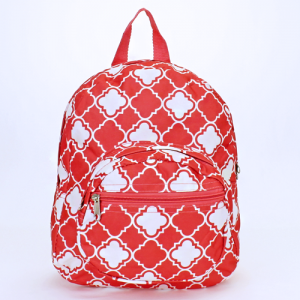 luggage B 5 15 AK mini backpack quatrefoil coral