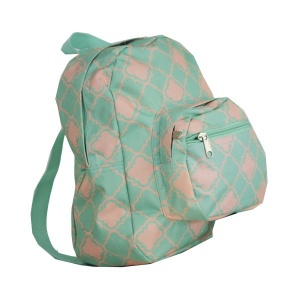 luggage B 5 15 AK mini backpack quatrefoil mint coral