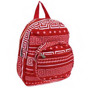 luggage B 5 16 AK mini backpack greek key coral red