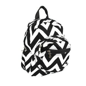 Luggage B5 601 AK mini backpack chevron black