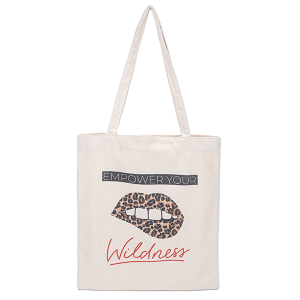 Odiva B8027 shoppers tote empower your wildness leopard lips
