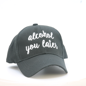 CC Cap 149e ALCOHOL YOU LATER black