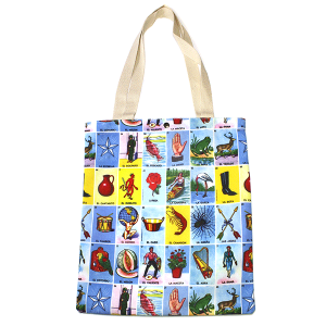 Minky BA1391-1 Loteria book bag tote
