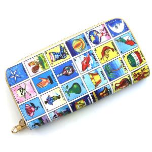 Minky BA1420 double zipper wallet Loteria multi