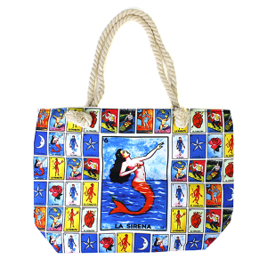 Minky BA1524 Loteria rope handle canvas tote