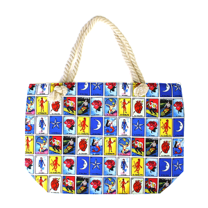 Minky BA1587 Loteria rope handle canvas tote