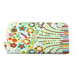 Minky BA1735-2 zipper wallet flower multi