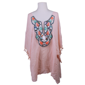 shawl 257b 80 My Jessy Cover Up Top embroidery pink