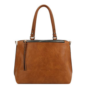 Handbag Republic BAD0003 fashion tote cognac brown