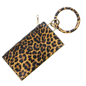 Wrist wallet BB139X116DLP Bijorca leopard dark brown