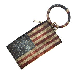 Wrist Wallet BB377X234 Bijorca rustic USA Flag black