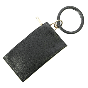 Wrist wallet BB377X240 Bijorca pebbled leather black