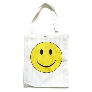 Tote Bag BG-1016 large smiley face white