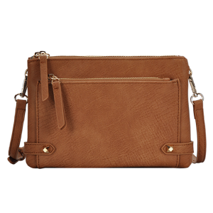 MMS BGA 0821 fashion zipper crossbody tan