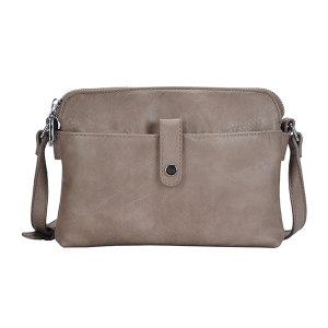 MMS BGA 2556 fashion modern crossbody 3 compartment taupe