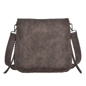 MMS BGA 5063 conceal carry crossbody western braided bag taupe