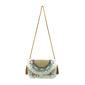 Antik Kraft BGA IN08 jute crossbody fringe camel