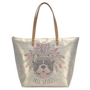 MMS BGS 2763 Free Spirit Dog tote gold