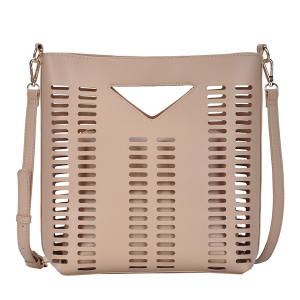 MMS BGT 2971 Laser Cut 2 in 1 Shoulder Bag Crossbody Blush
