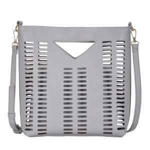 MMS BGT 2971 Laser Cut 2 in 1 Shoulder Bag Crossbody Gray