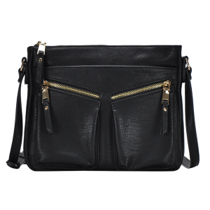 MMS BGW 7320 zipper fashion crossbody black