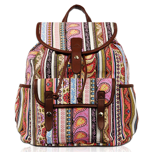 Vieta BP 1677A canvas paisley backpack multi