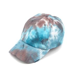 CC Pony Cap 112h tie dye blue brown