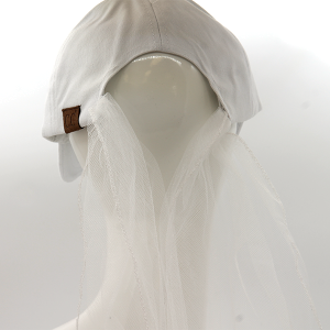 CC Cap 215 LONG VEIL Just Married White Gold