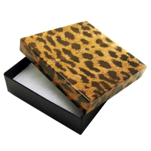 display gift box BX2833 3.5inch 100pc leopard