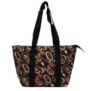 luggage ak C152001 lunch bag circles brown