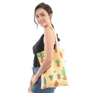 Fadivo CB0810 Cactus print canvas tote bag