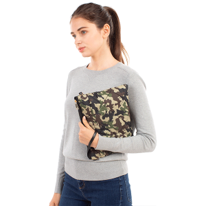 Clutch Crossbody quilted puffy pattern CB1807 camouflage