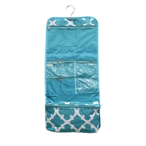 luggage AK CB25 11 hanging cosmetic case quatrefoil turquoise