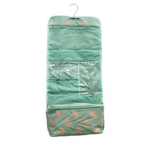 luggage AK CB25 15 hanging cosmetic case quatrefoil mint coral