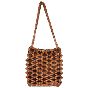 Fadivo CB9683 wooden bead crossbody bag brown