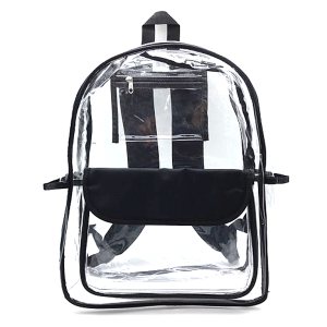 luggage CK CBP clear backpack black