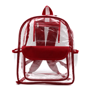 luggage CK CBP clear backpack maroon