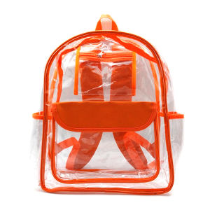 luggage CK CBP clear backpack orange