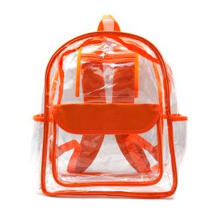 luggage CK CBP clear backpack orange