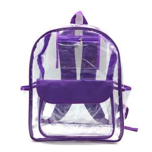 luggage CK CBP clear backpack purple