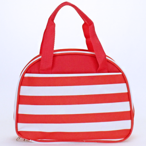 cc20 AK 23 nautical stripe lunch box coral white