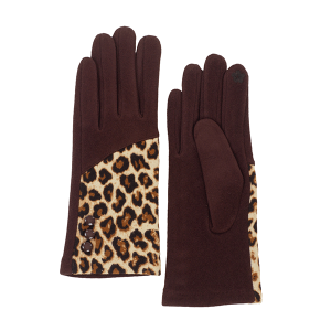 Winter Gloves 060a 08 Fadivo leopard brown
