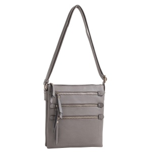 Deluxity CHY 2039L Gray Crossbody Handbag with gun holster