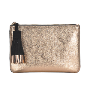 MMS CLS 82208 tassel two color mini clutch rose gold