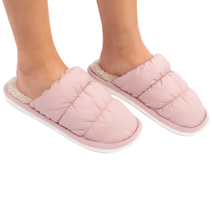Winter Slipper CSL1508 quilted puffy solid color pink MEDIUM