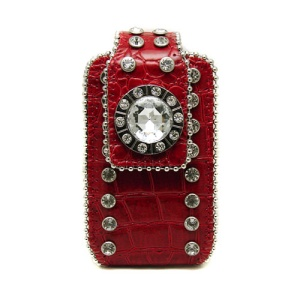 NS CT CC002S cell phone case croc crystal red