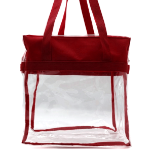 luggage CK CTB clear tote bag maroon
