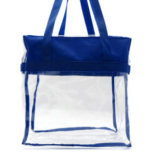 luggage CK CTB clear tote bag royal blue